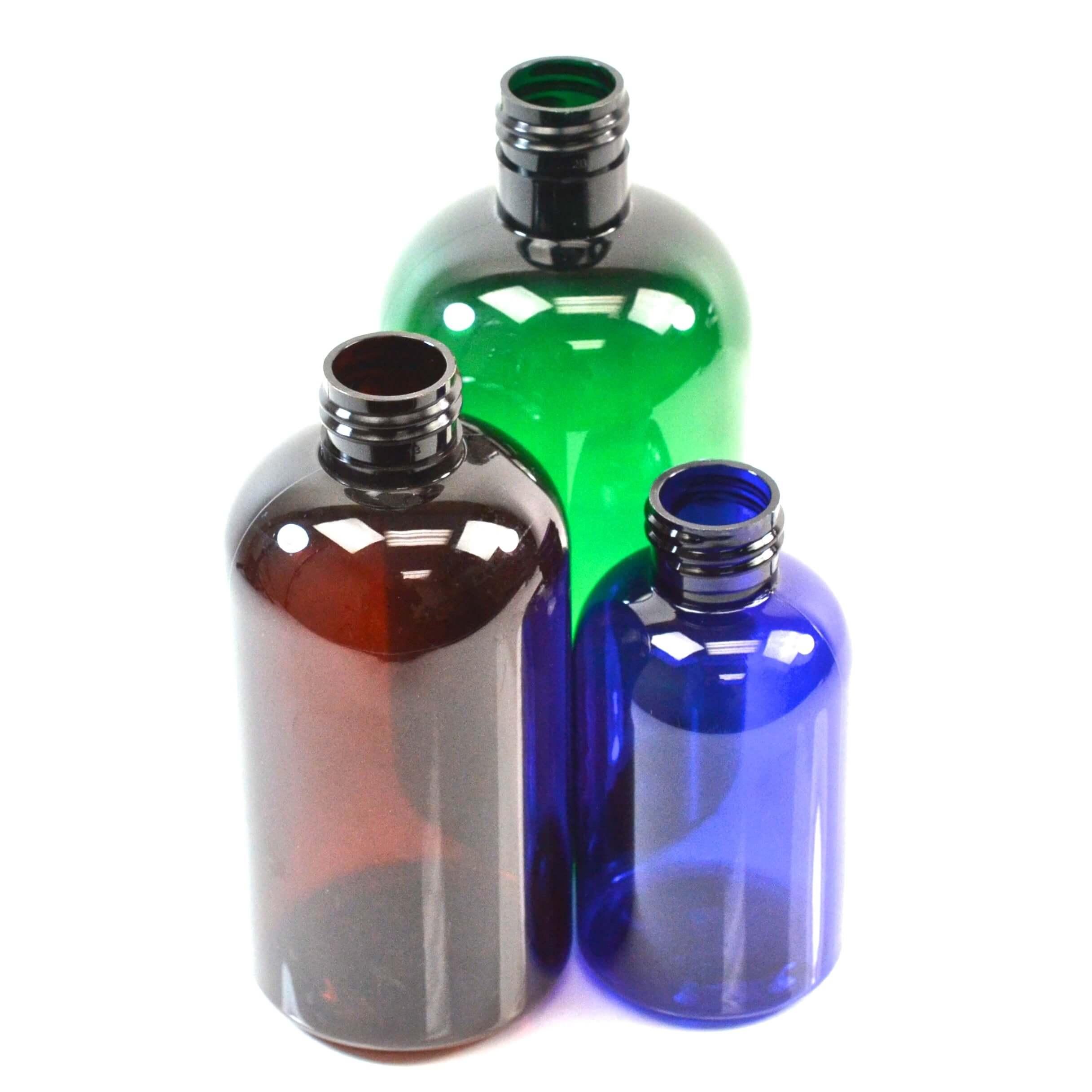 Boston Round Bottles Green Eco Friendly
