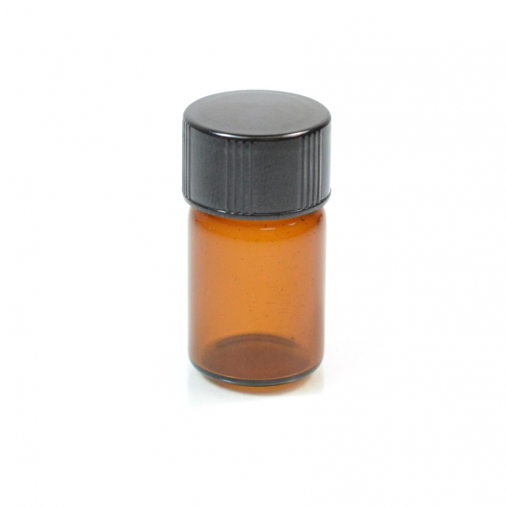 5/8 DRAM Screw Thread Amber Glass Vial 13/425