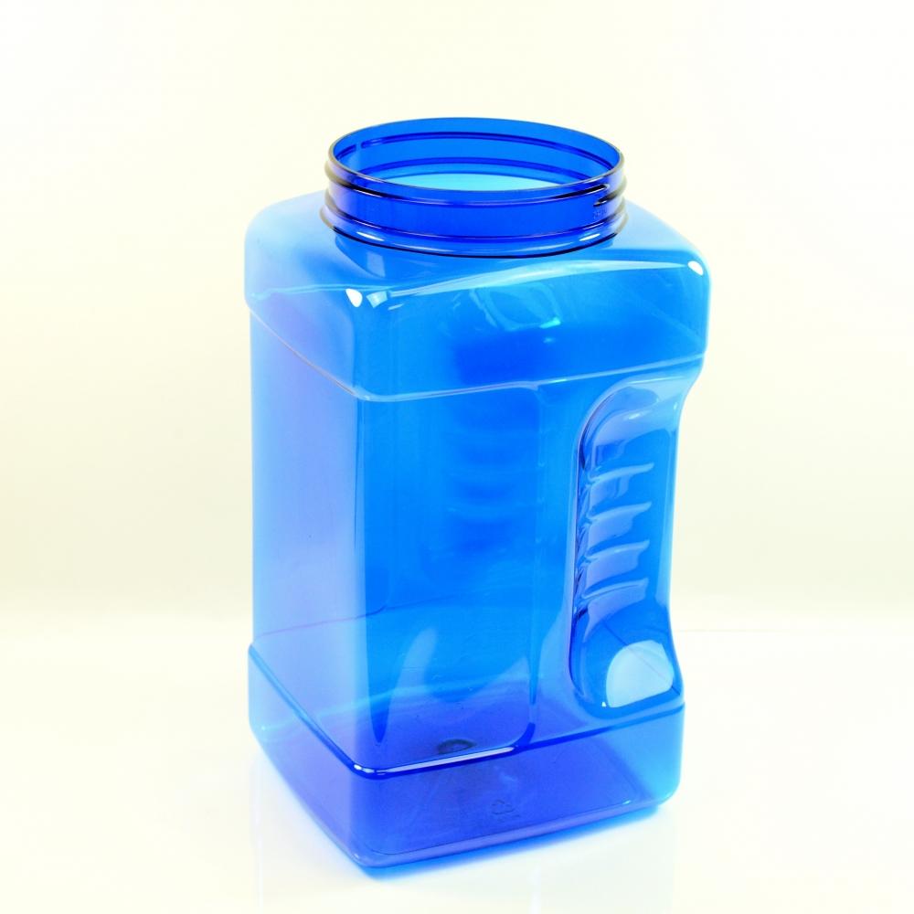1 Gallon 110mm Cobalt Grip PET Jar