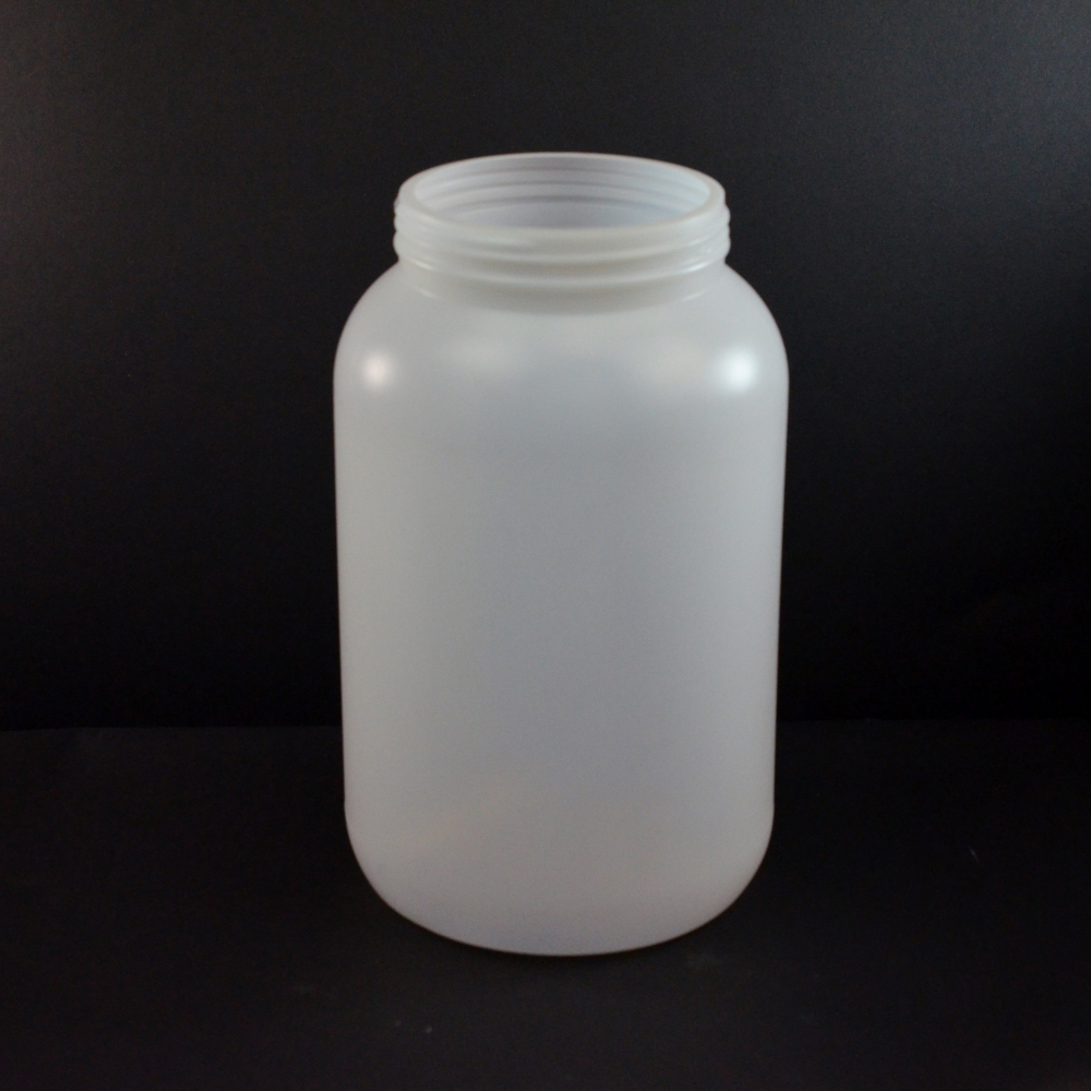 1 Gallon 110mm Natural Round HDPE Jar