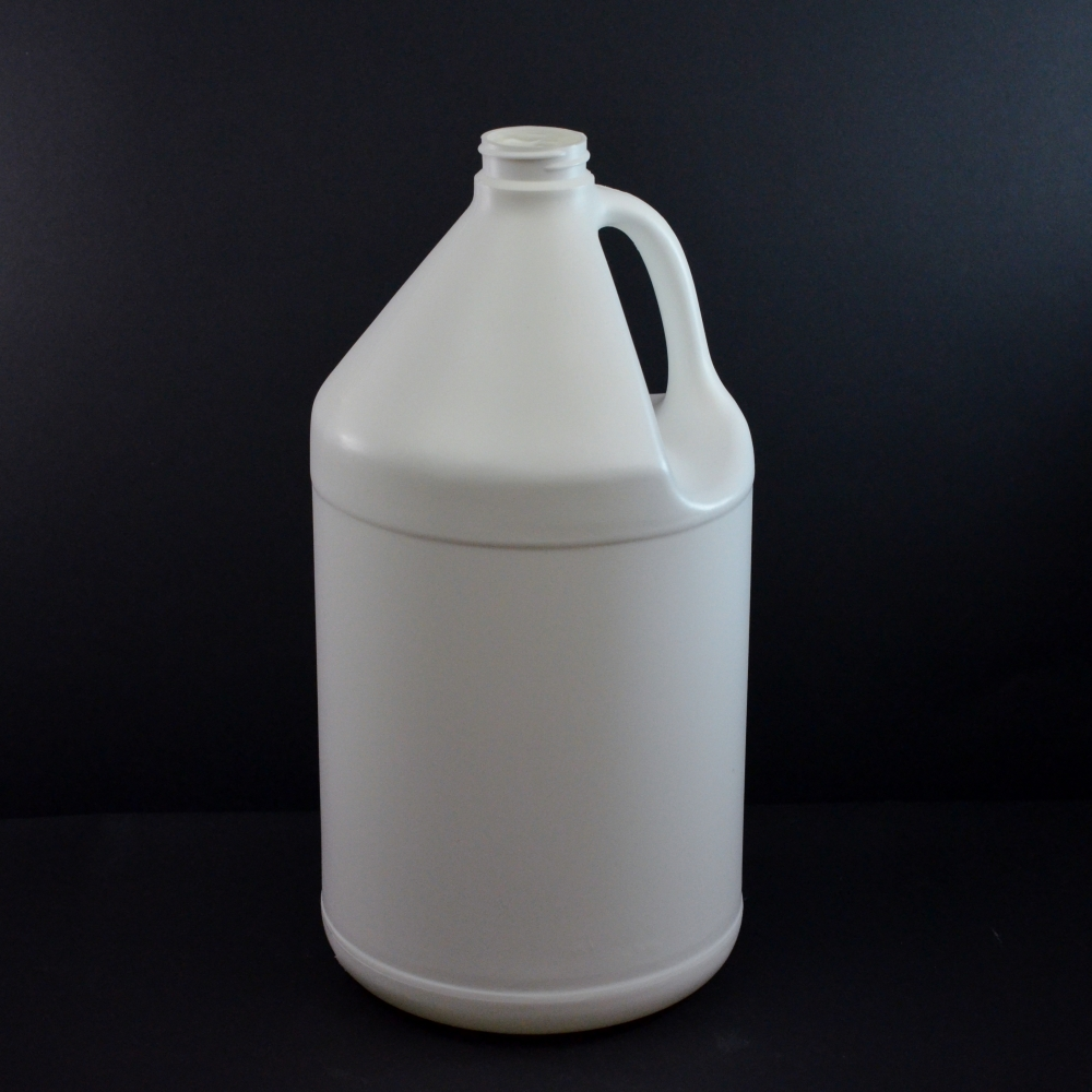1 Gallon 38/400 White Jug Handle HDPE