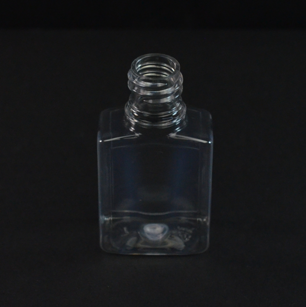 1 oz 18/415 Clear PET Indented Rectangle Amenity Bottle