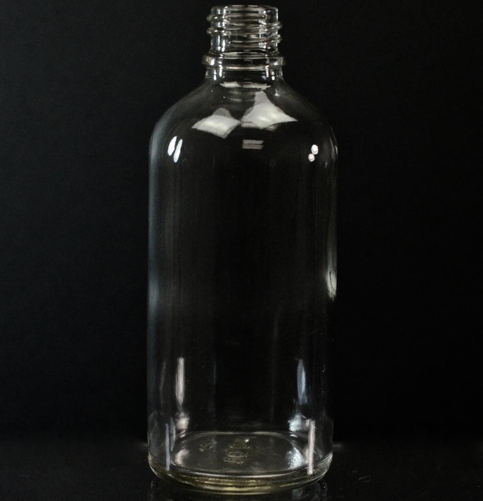 100 ml Euro Dropper 18-DIN Clear Glass Bottle