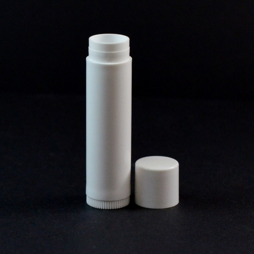 .15 oz White Classic Lip Balm Container, 2.65″ Tall with Cap – #500