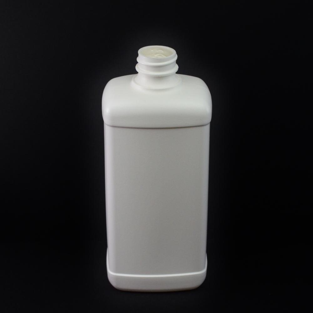 16 oz 28/400 White Blake Oblong HDPE Bottle
