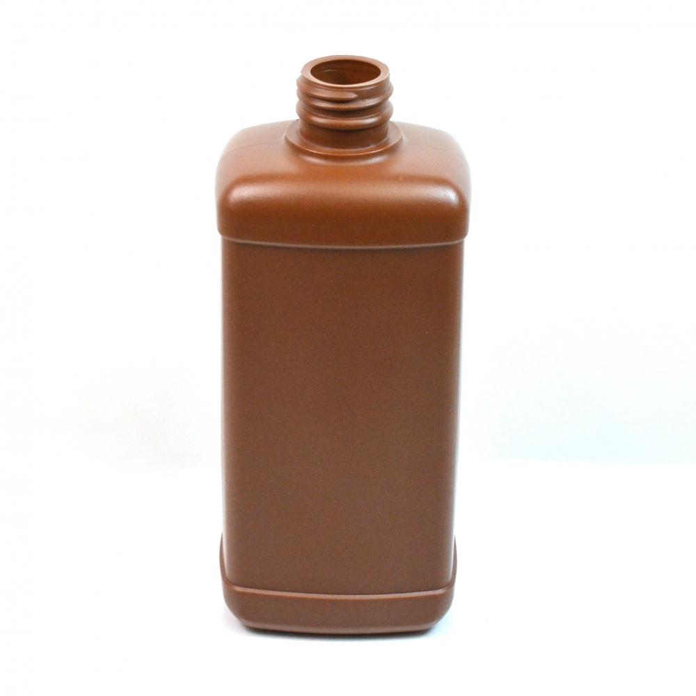 16 oz 28/410 Brown Blake Oblong HDPE Bottle