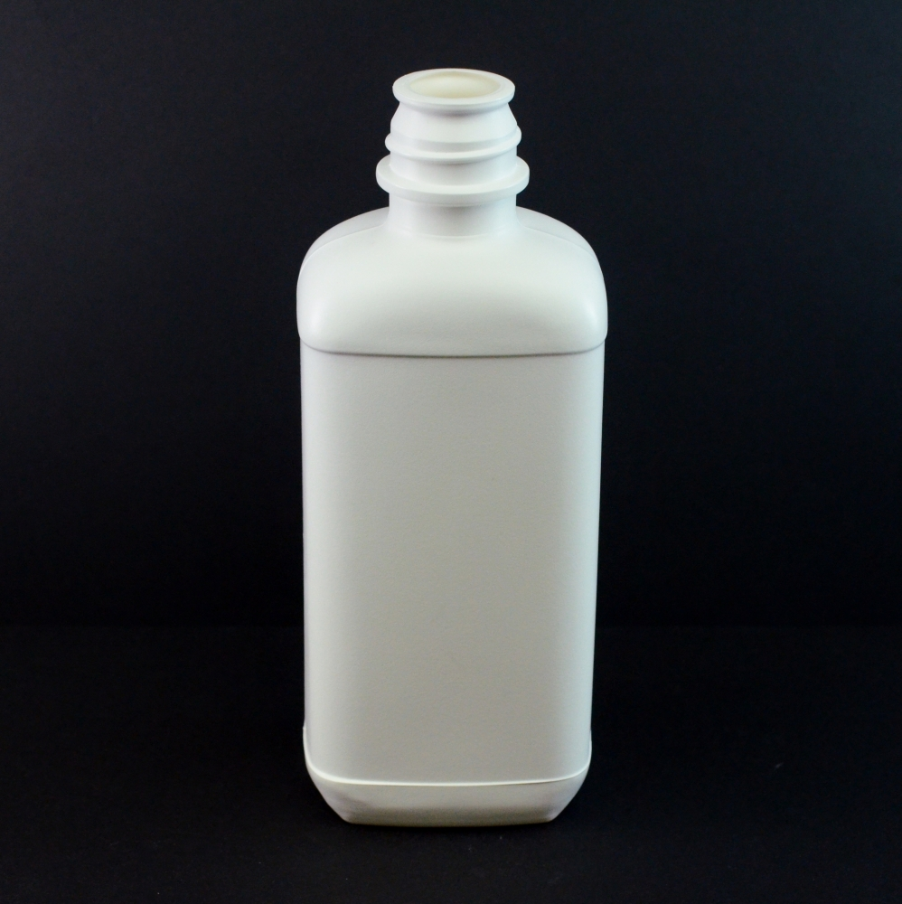 16 oz 28/410 Pour Lip White Blake Oblong HDPE Bottle