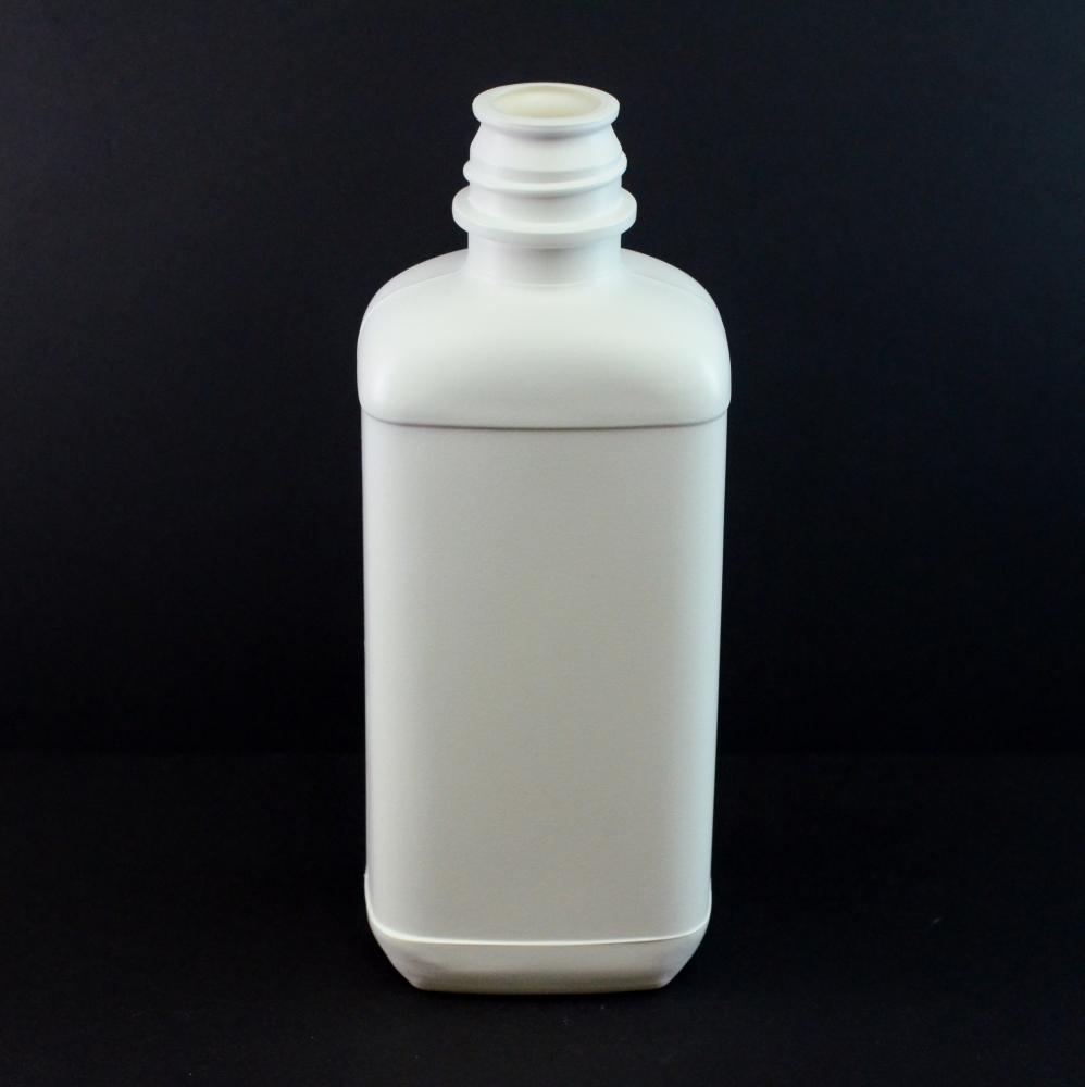 16 oz 28/410 Pour Lip White Blake Oblong HDPE Bottle