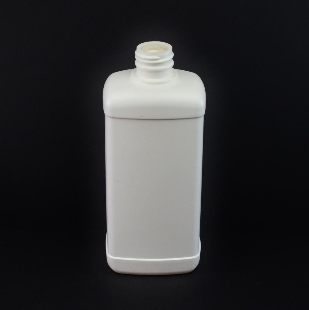 16 oz 28/410 White Blake Oblong HDPE Bottle