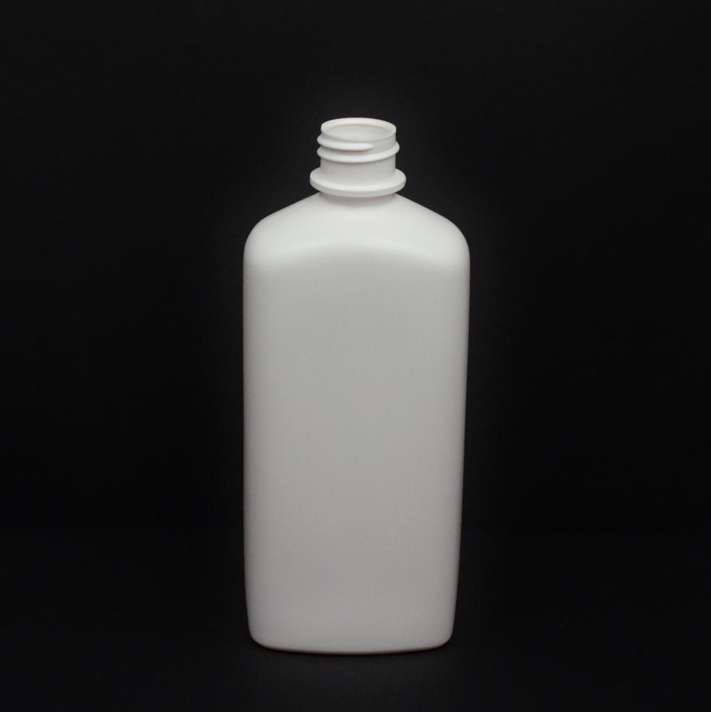 16 oz 28/410 White Blake SS Oblong HDPE Bottle