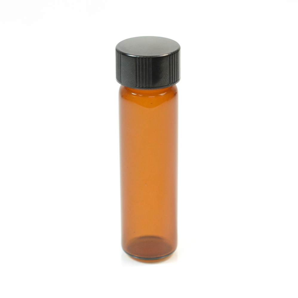 2 DRAM Narrow Screw Thread Amber Glass Vial 15/425