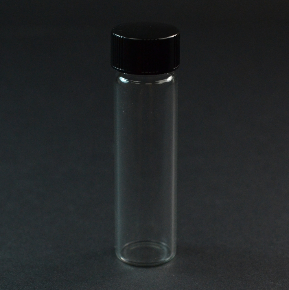 2 DRAM Narrow Screw Thread Clear Glass Vial 15/425