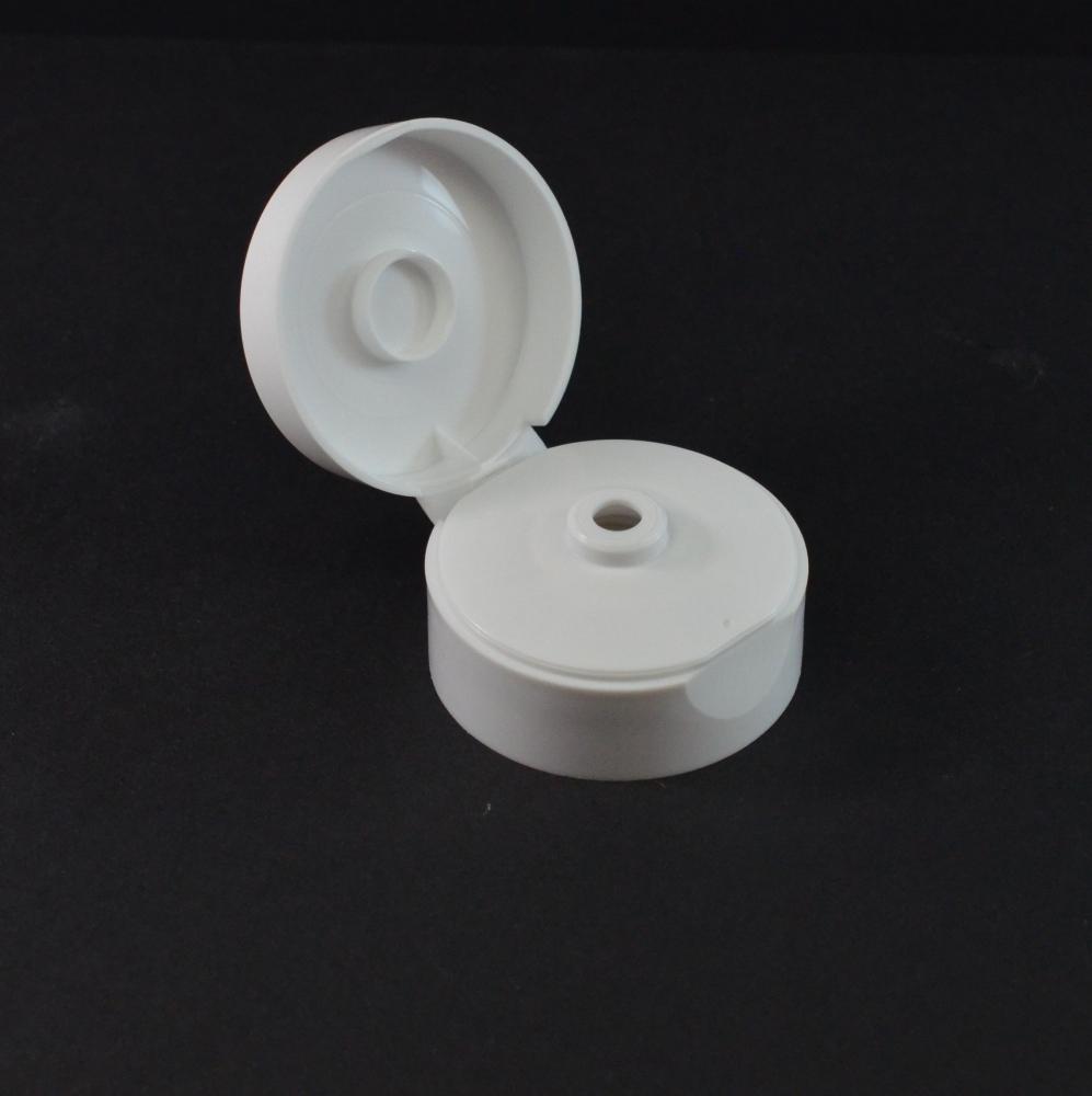 2″ Diameter White Flip Top Dispensing Cap .250 Orifice