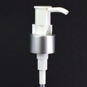 24-410 Matte Silver Retro Lotion Pump with Clip_4045