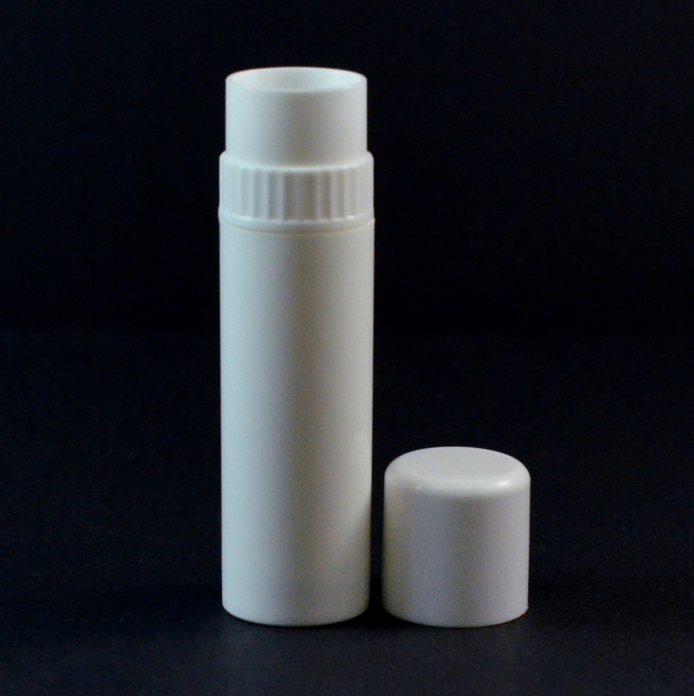 .25 oz White Collar Lip Balm Container, 3.06″ Tall with Cap – #625 Collar