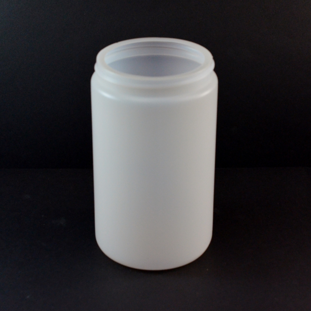 32 oz 89/400 Natural HDPE Wide Mouth Regular Wall Straight Sided Jar