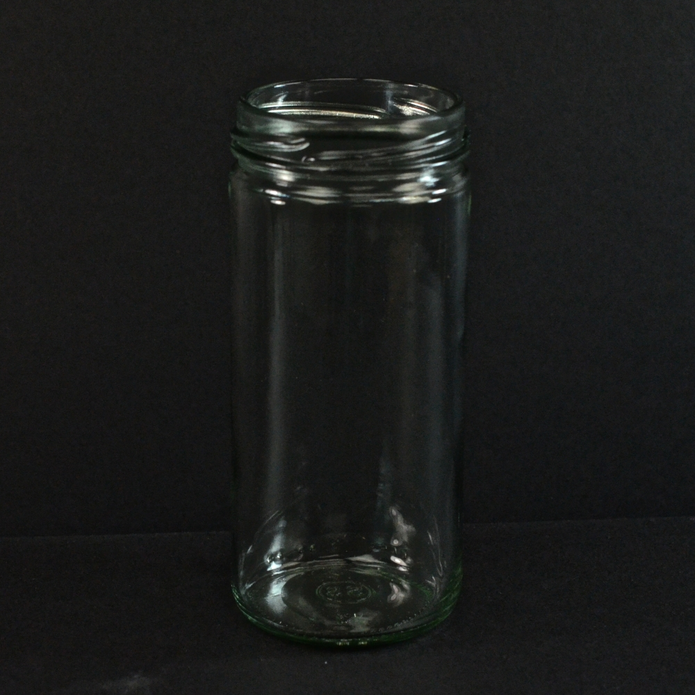 4 OZ 48/485 Flint Round Spice Glass Jar