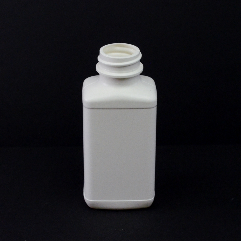 4 oz 28/400 White Blake Oblong HDPE Bottle