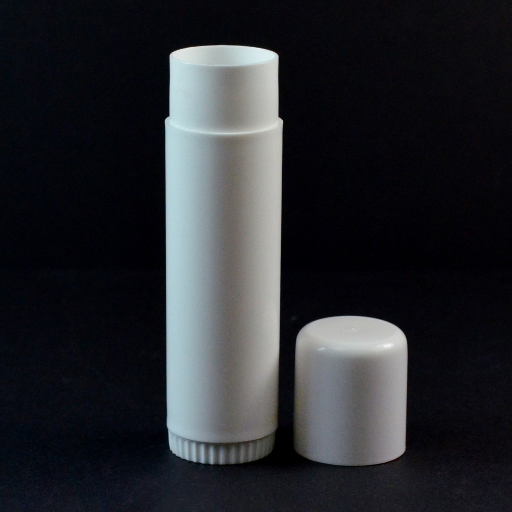 .50 oz White Classic Lip Balm Container, 3.72″ Tall with Cap – #750 Lightweight