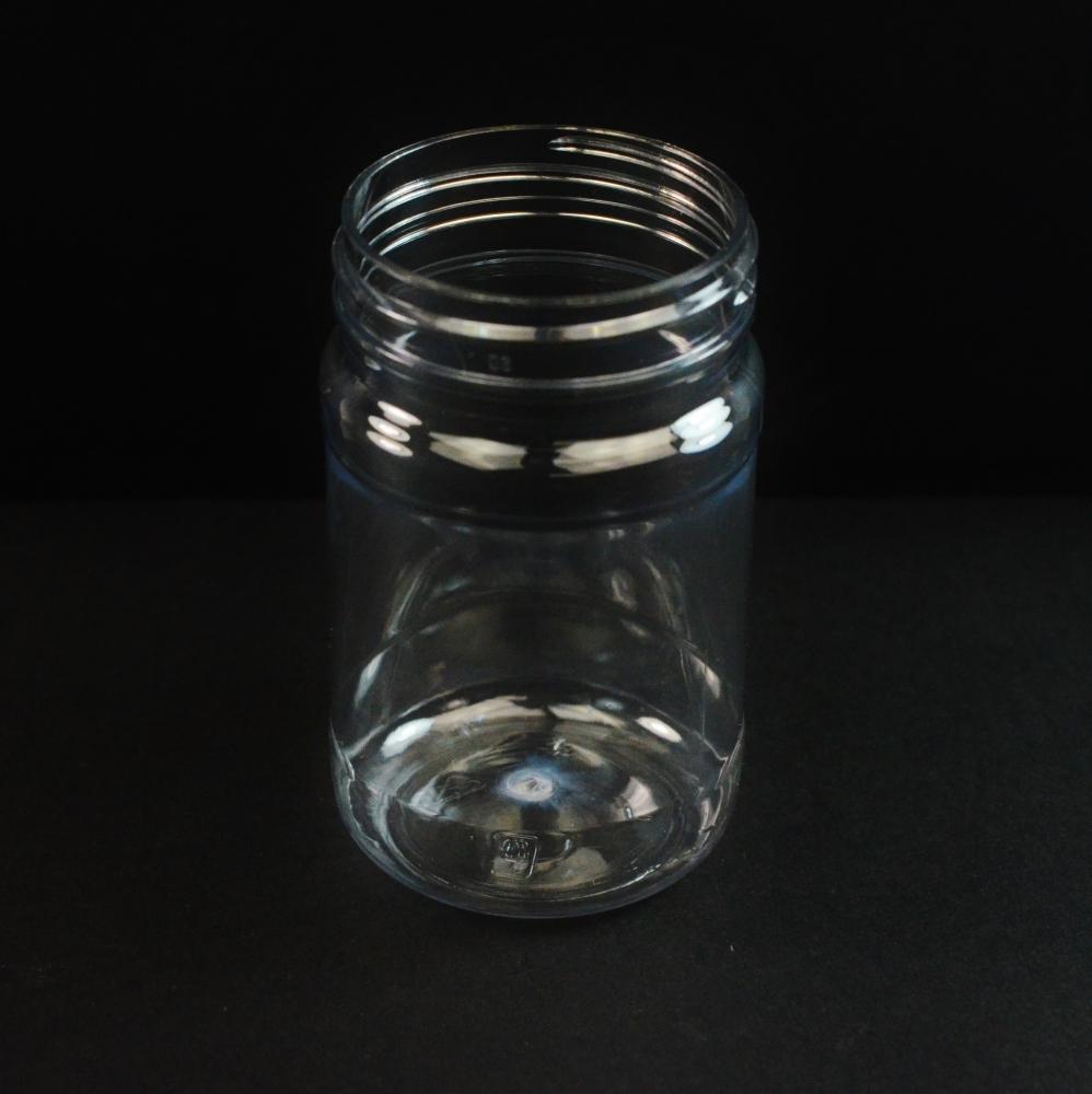 6 oz 53 mm Clear PET Food Jar