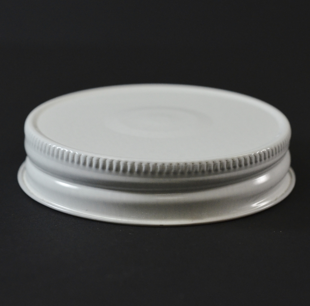 70 G-450 White with Button Metal Cap with Plastisol Liner