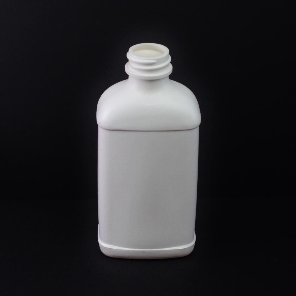 8 oz 28/400 White Blake Oblong HDPE Bottle