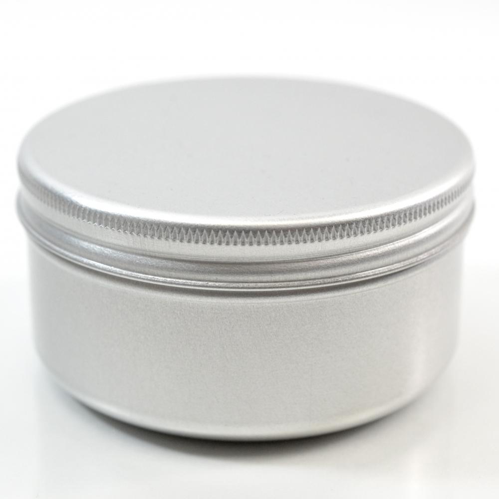 100 ML Aluminum Metal Straight Base Jar