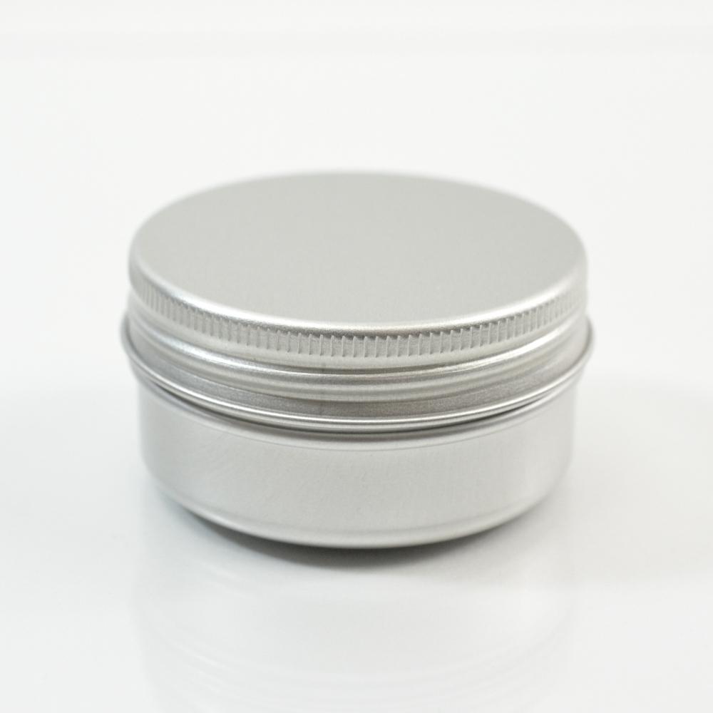 30 ML Aluminum Metal Straight Base Jar