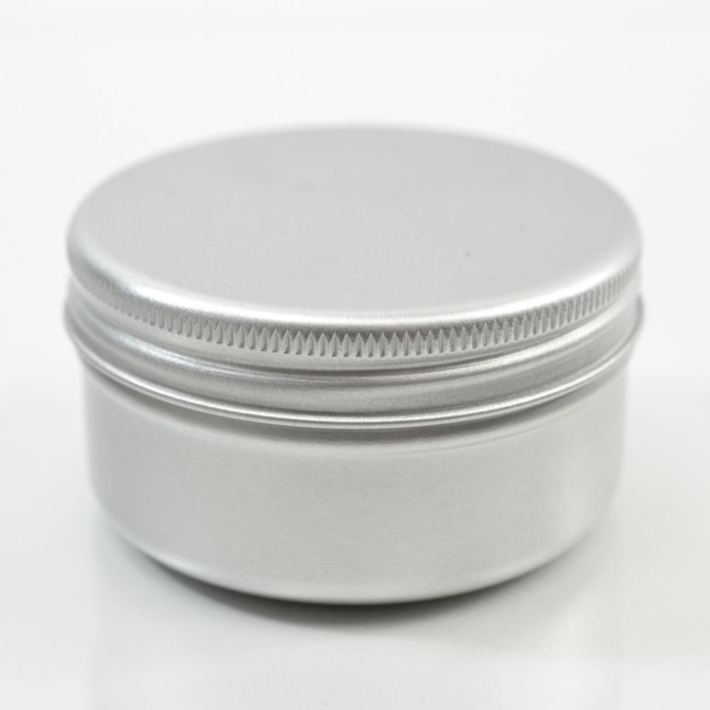 50 ML Aluminum Metal Straight Base Jar