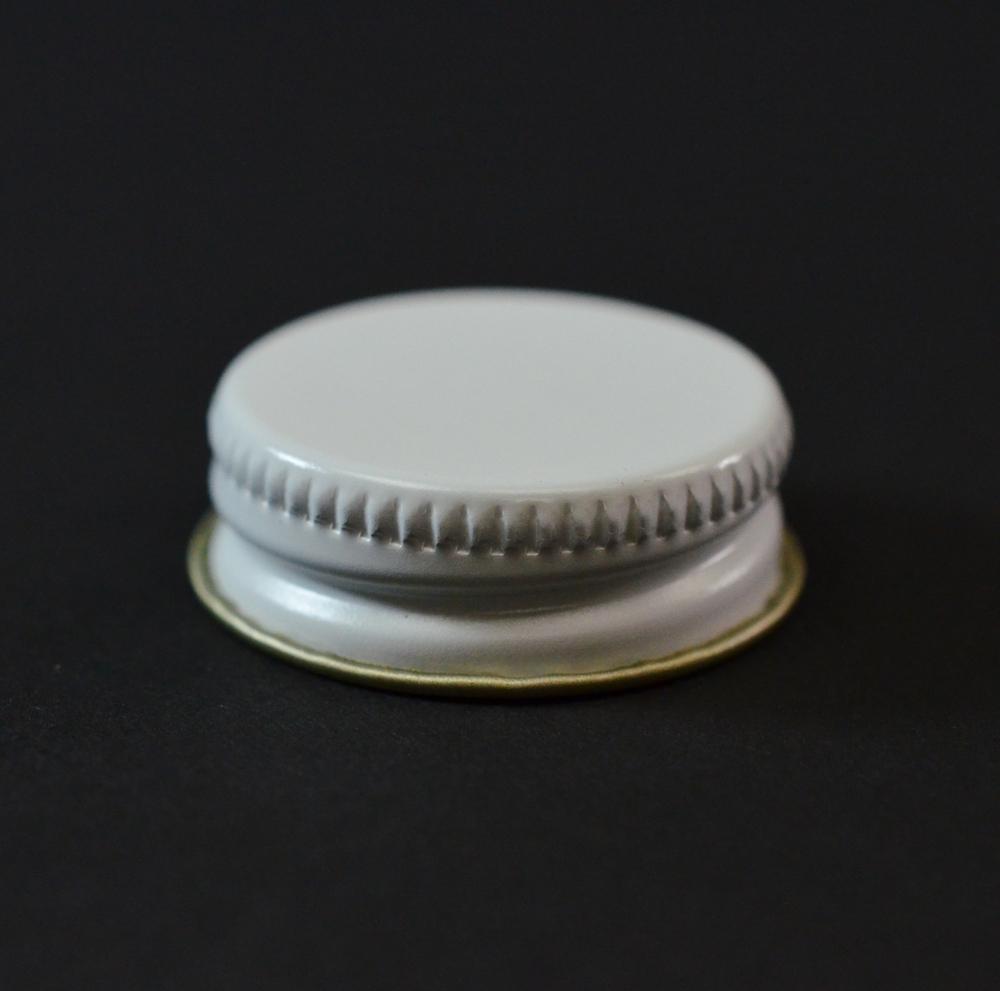 28/400 CT White Gold Metal Continuous Thread Caps