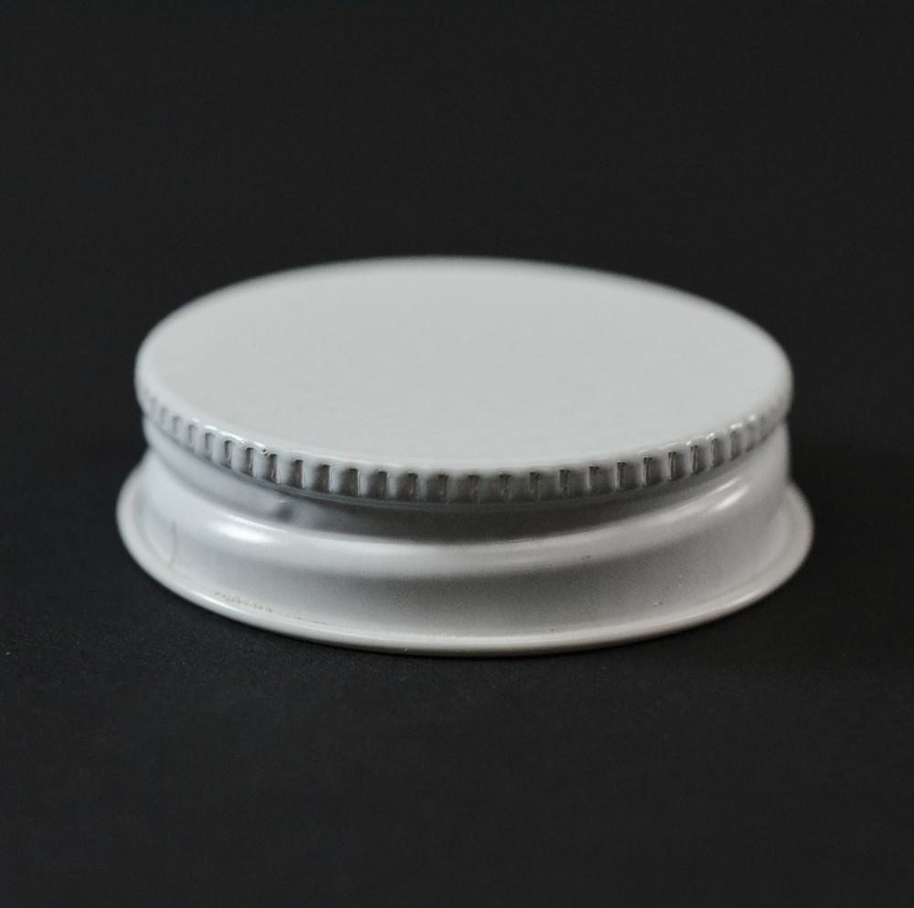 38/400 CT White White Metal Continuous Thread Caps