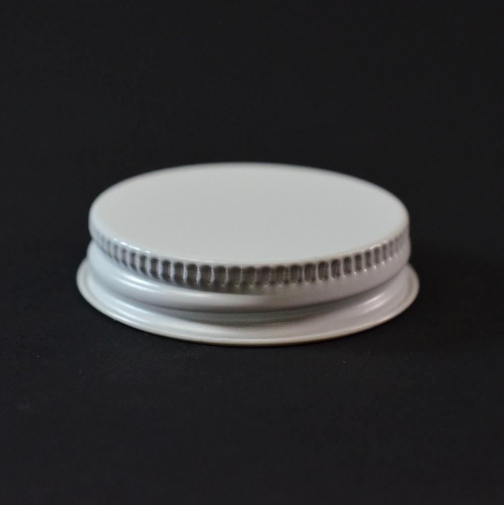 43/400 CT White White Metal Continuous Thread Caps
