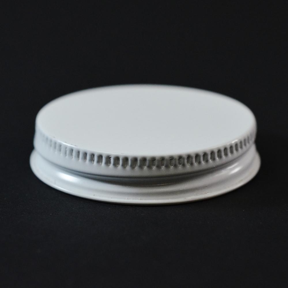 48/400 CT White White Metal Continuous Thread Caps