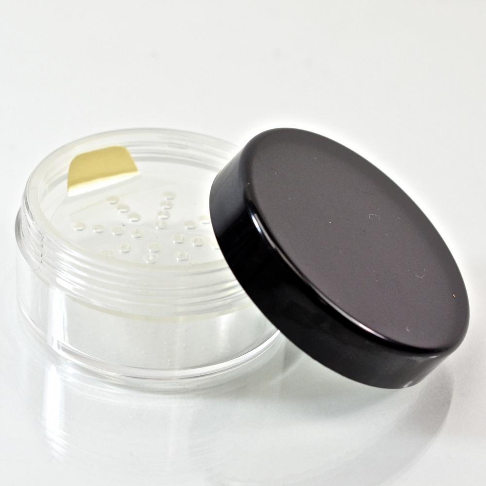 1 oz. 53/400 Clear with Black Cap Cosmetic Powder Jar