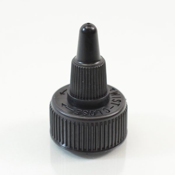 Dispensing Cap Twist Open 24-410 Ribbed Black_1896