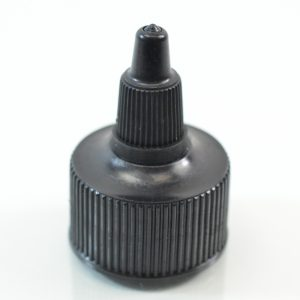 Dispensing Cap Twist Open 28-410 Ribbed Black_1913