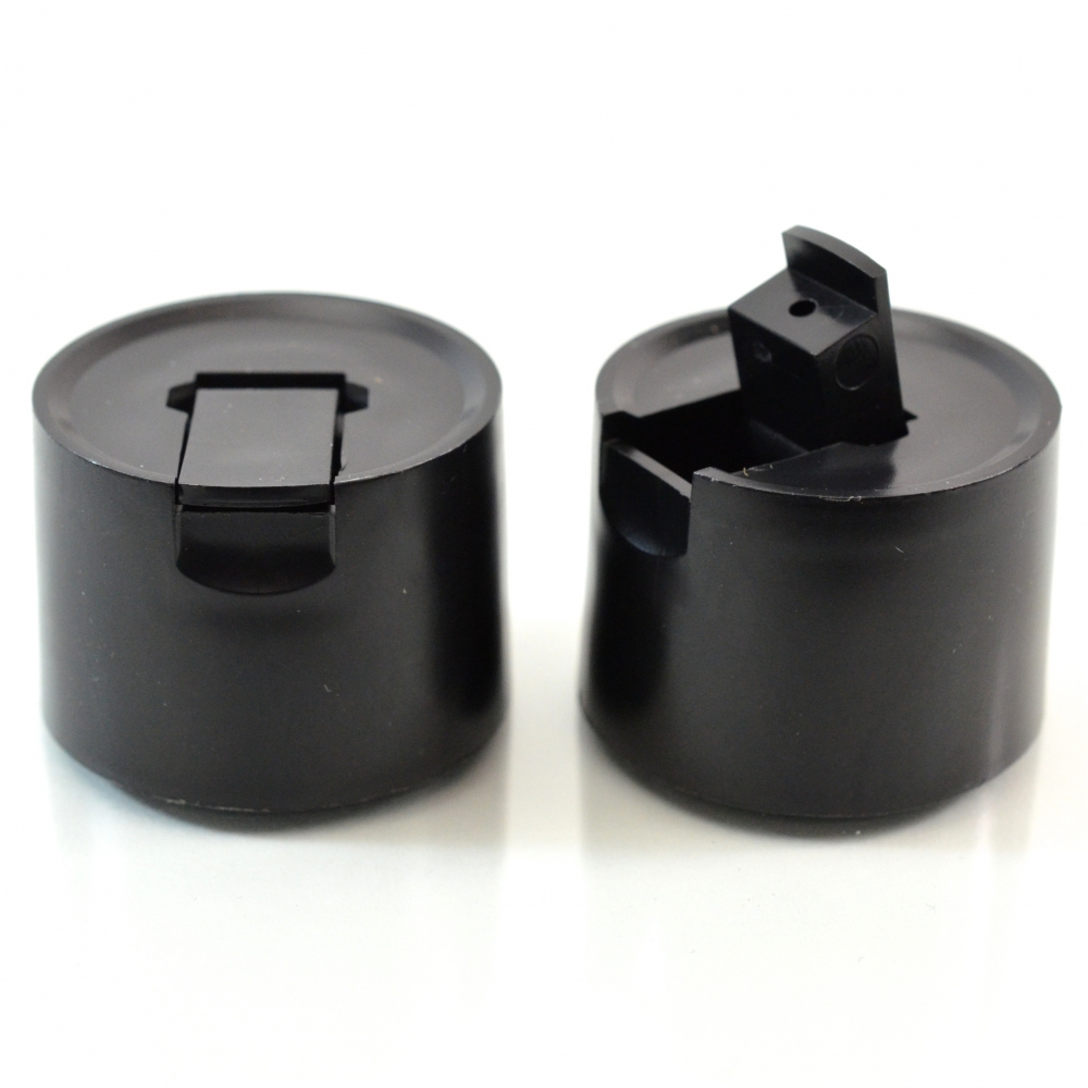 22/400 Black Dispensing Spouted Cap PS-342 Land Seal PP