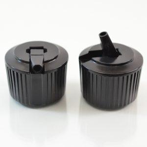 Dispensing Spouted Cap 24-410 WL PS-331 Valve Seal Black_1895