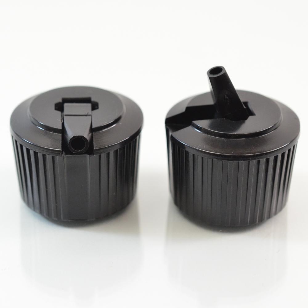 24/410 Black Dispensing Spouted Cap Wl PS-331 Valve Seal PP