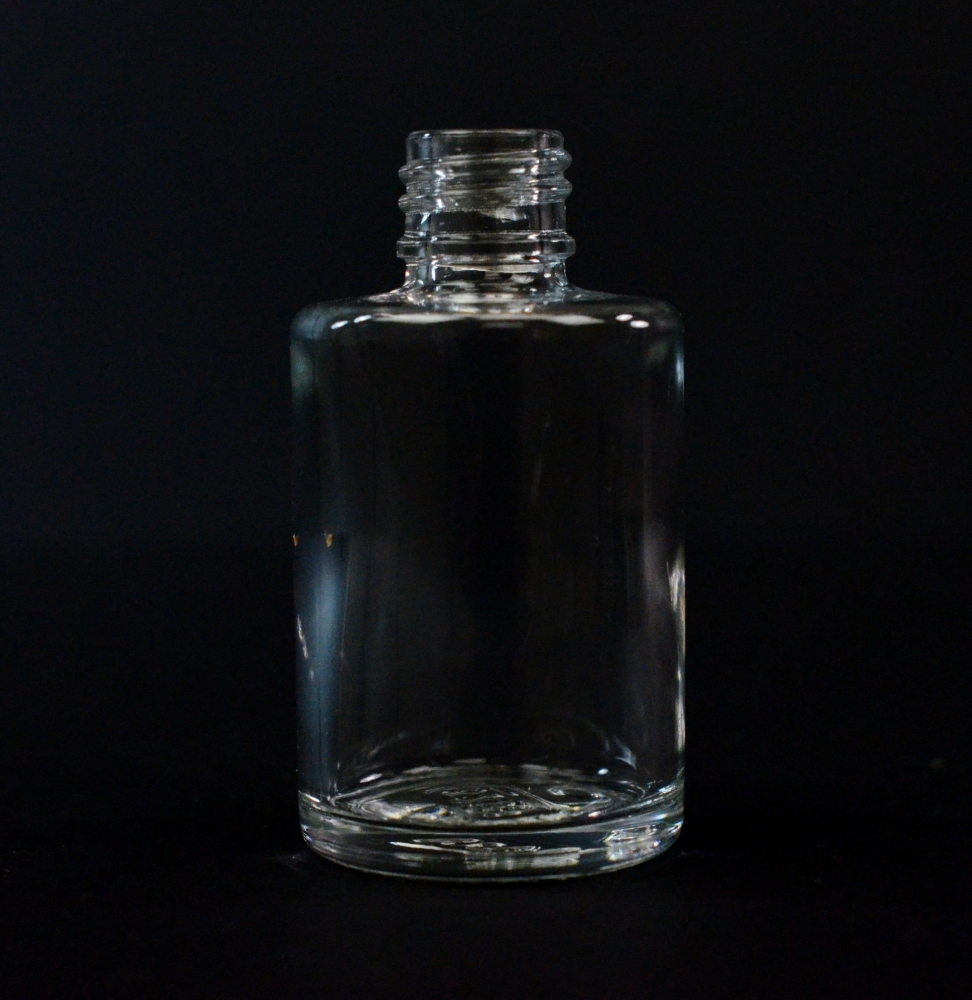 1/2 oz 13/415 Cylinder Clear Glass Bottle