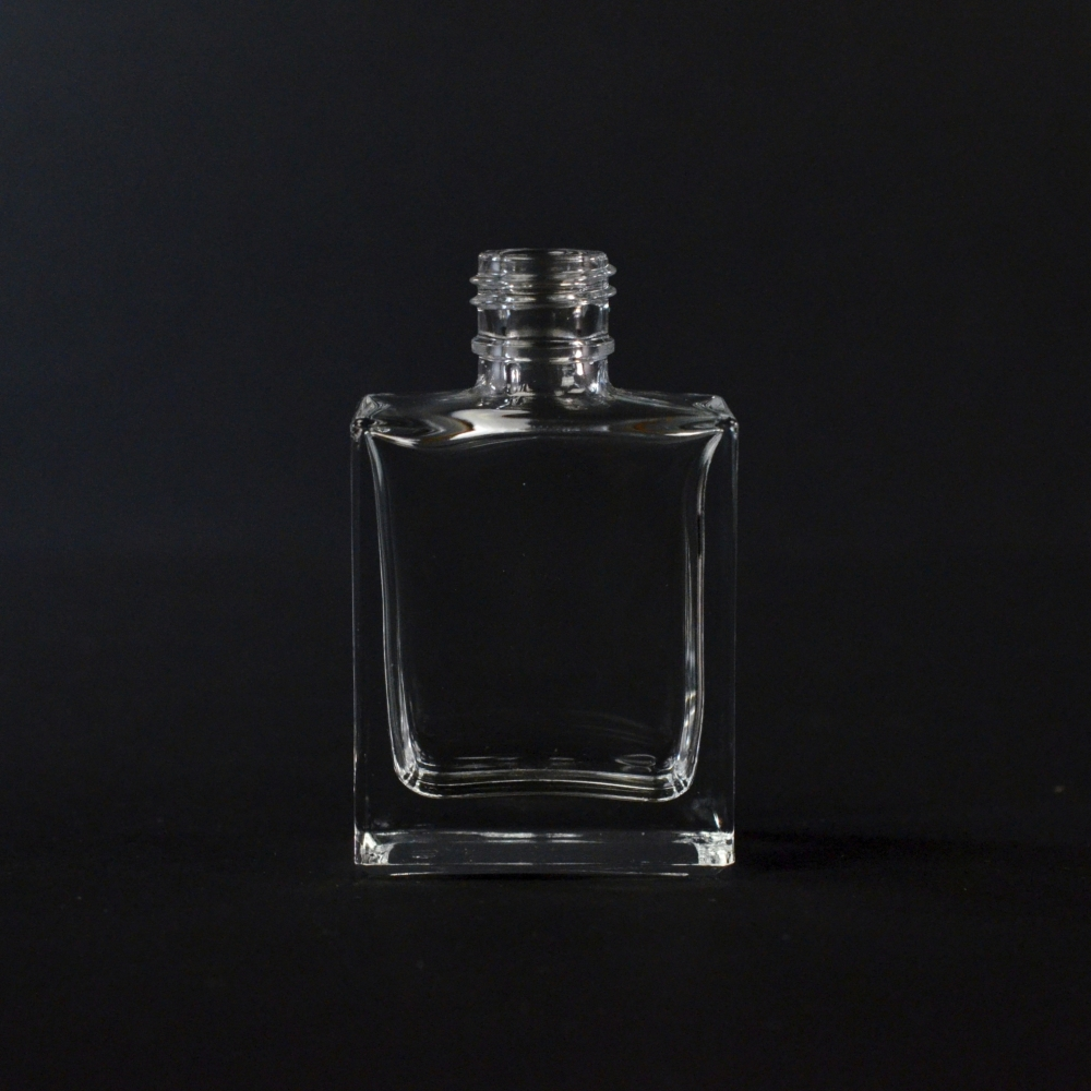 1/2 oz 13/415 Rectangular Clear Glass Bottle