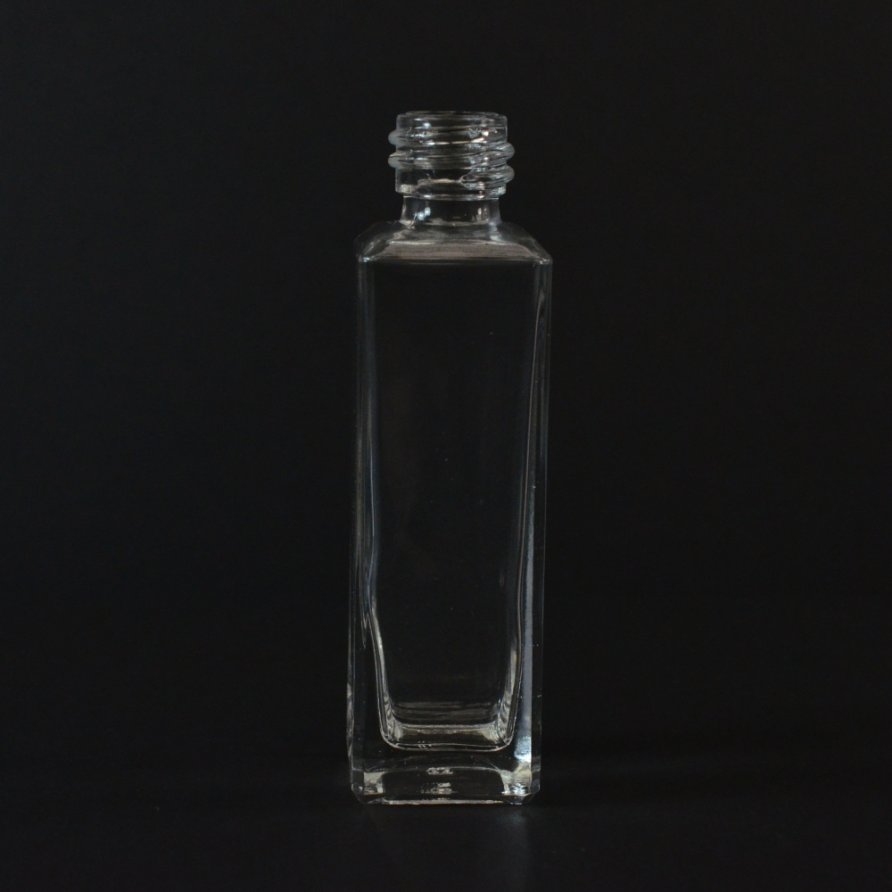1/2 oz 15/425 Nancy Square Clear Glass Bottle