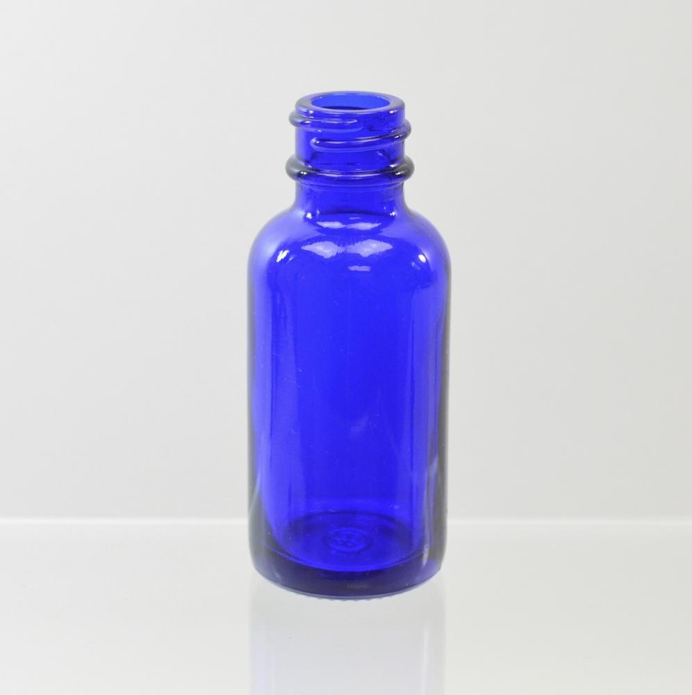1 oz Boston Round 20/400 Cobalt Glass Bottle