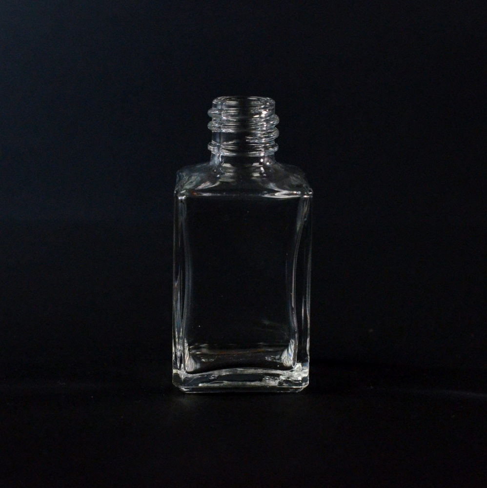 1 oz 18/415 Rectangular Clear Glass Bottle