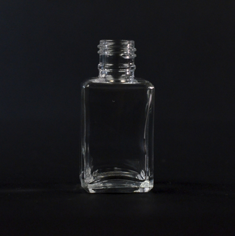 1 oz 18/415 Florence Square Clear Glass Bottle