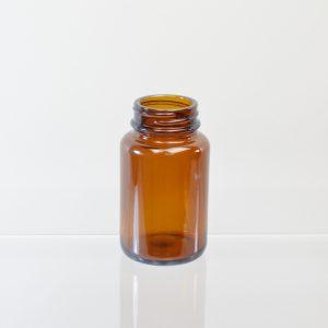 Glass Bottle 100cc Pharmaceutical Packer Amber 38-400_3087