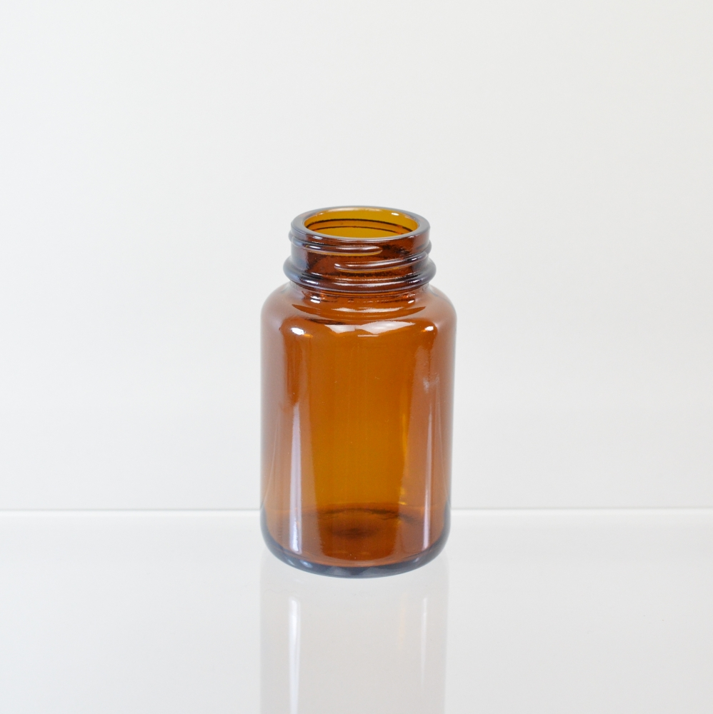 100CC 38/400 Amber Glass Nutritional Supplement Packer