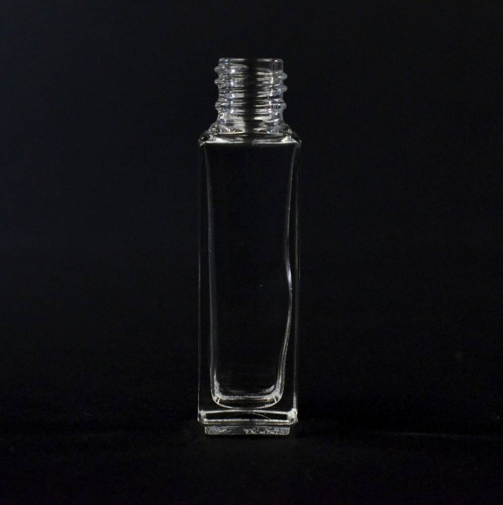10 ml 13/415 Nancy Square Clear Glass Bottle