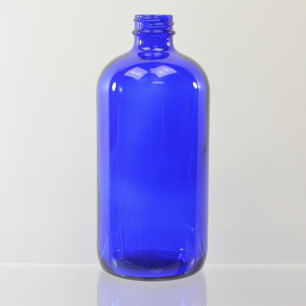 16 oz Boston Round 28/400 Cobalt Glass Bottle