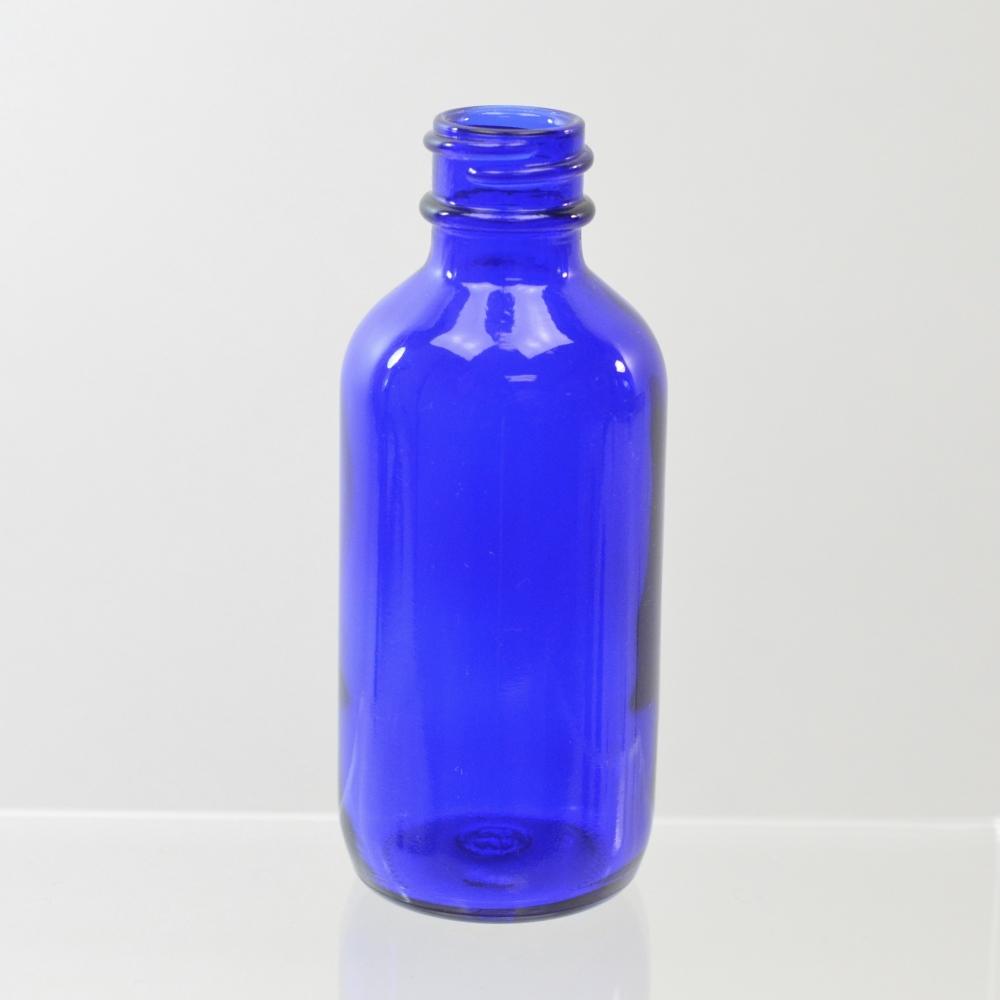 2 oz Boston Round 20/400 Cobalt Glass Bottle